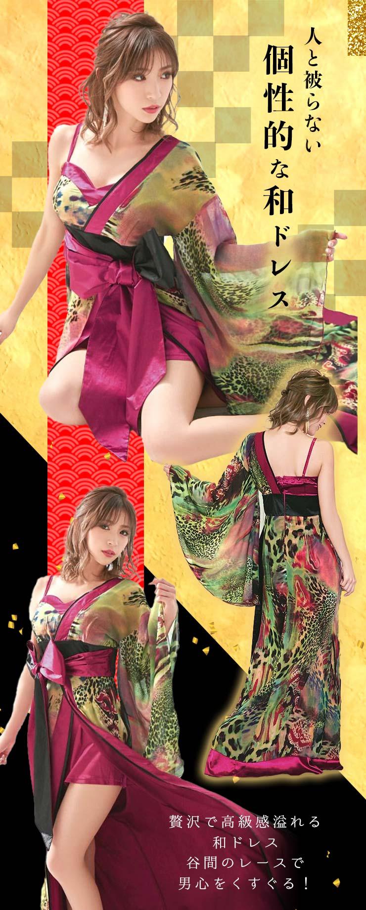 和柄ドレスを着る石川彩香ちゃん