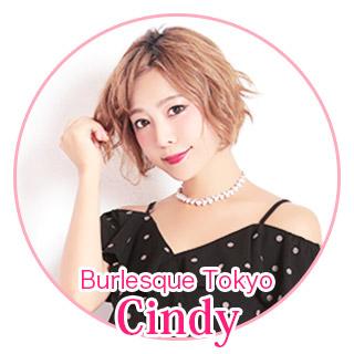 Burlesque Tokyo Cindy Tikaドレス着用
