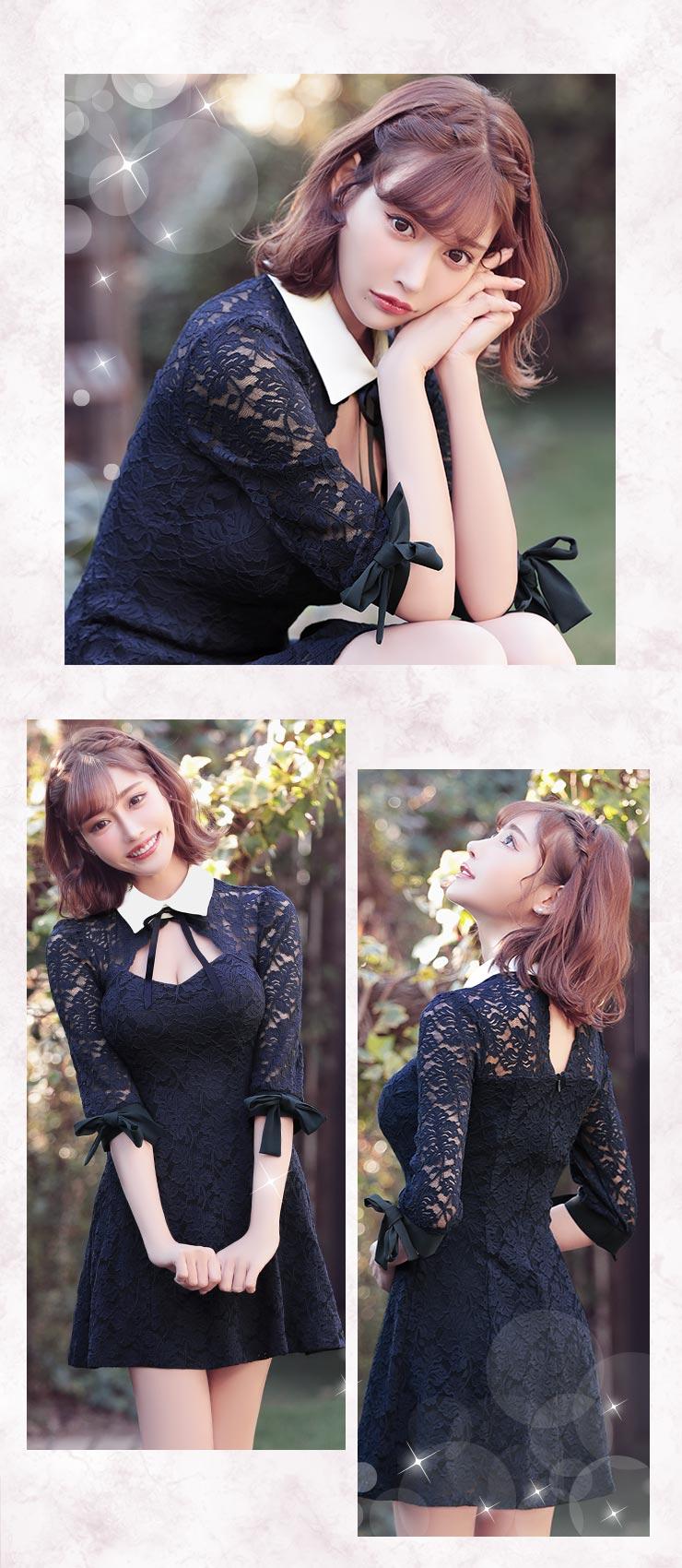 韓国ドレスを着る明日花キララちゃん