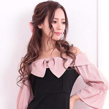 プチプラピンクドレス