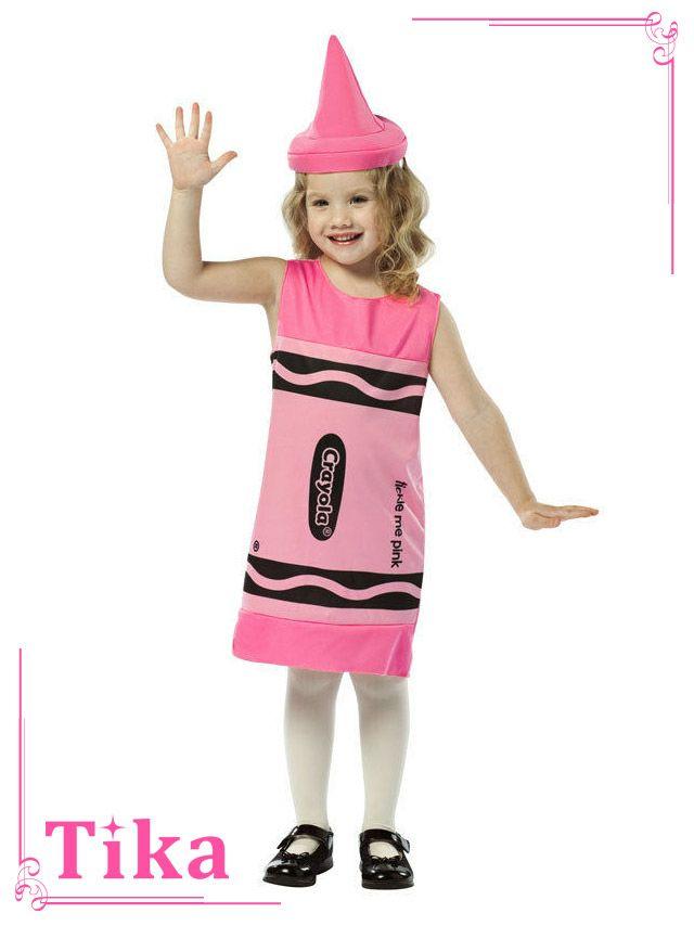メイン画像 コスプレ キッズ衣装 2点set ピンククレヨラ・クレヨンコスチュームセット ハロウィン コスプレ レディース 衣装 仮装 可愛い かわいい 通販