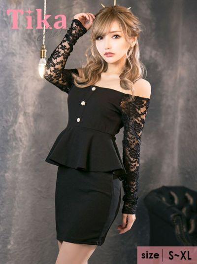 ペプラムドレスを着る大阪の人気キャバ嬢綾野あすかちゃん
