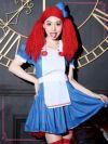ワケありセール Tika ティカ 5点set ラガディ・アン&アンディ アンコスチュームセット (ワンピース+エプロン+ソックス+お人形ウィッグ+髪飾り)