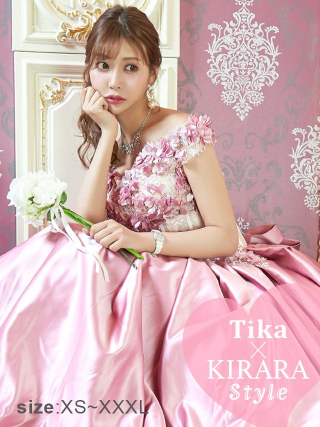 明日花キララ ドレス着用 Tika ティカ フラワーモチーフコルセット1