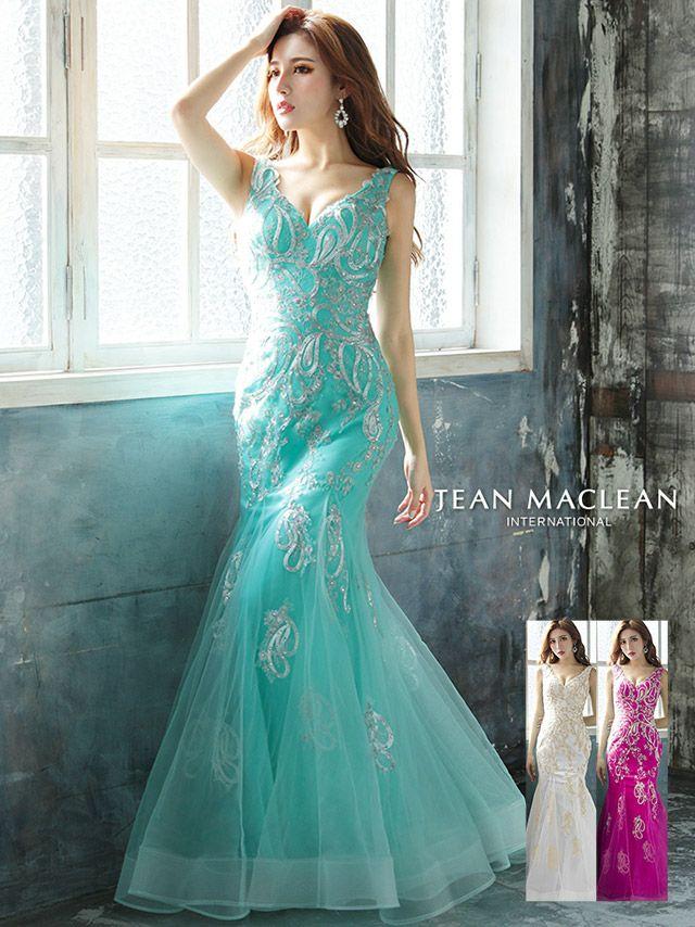 MIRINが着るジャンマクレーンのロングドレス