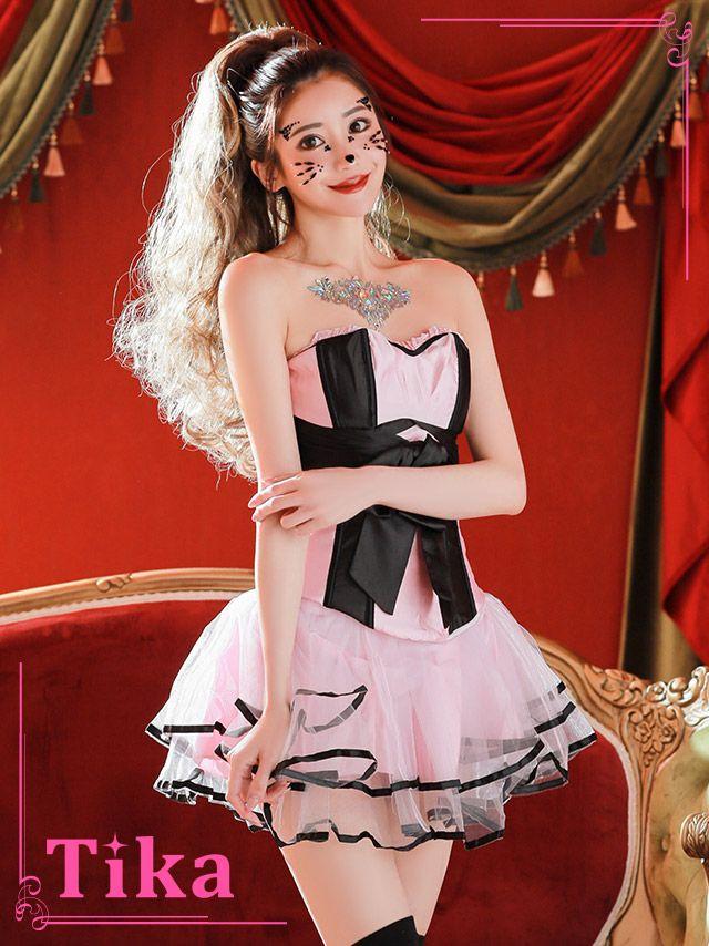 メイン画像 コスプレ衣装 Tika ティカ  3点set リボンコルセット×チュールスカートコスチュームセット  ハロウィン コスプレ レディース 衣装 仮装 可愛い かわいい 通販