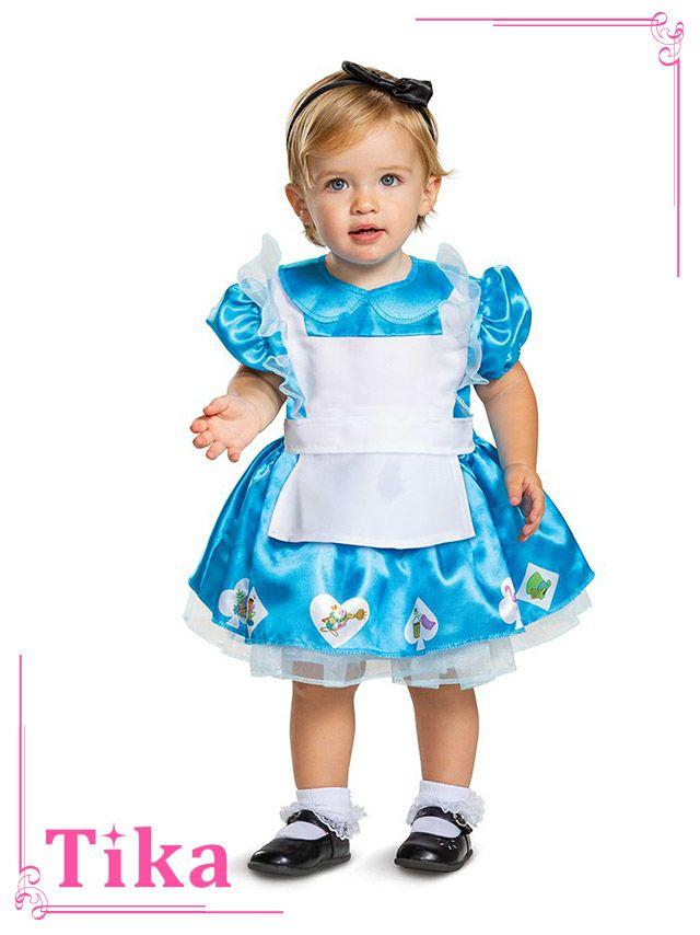 メイン画像 コスプレ キッズ衣装 2点set ふしぎの国のアリスコスチュームセット キッズコスプレ ベビーコスプレ ディズニー Disney 赤ちゃん 子供 幼児 女の子 セット