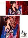 イメージ画像2 花魁 コスプレ ロング 着物 セクシー お化けの日 花柄和テイストロングドレス