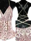 キャバドレス ロングドレス マーメイド マキシ丈 セクシー タイト Tika ティカ バックストラップデザインキラキラスパンコール刺繍レースマーメイドロングスリットドレス